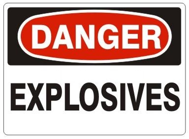 Signs for explosives