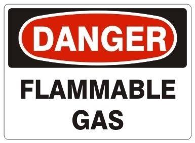 Flammable Gas Danger Sign