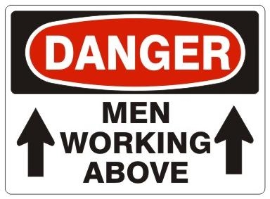 Danger men working above safety sign sciox Gallery