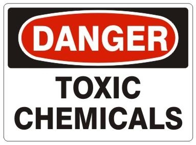 Danger Toxic Chemicals Safety Sign