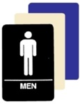 ADA MEN Restroom Sign 6 X 9 Available in Blue, Black and Taupe