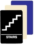 "STAIRS - INTERIOR DECOR - ADA SIGNAGE 6"" X 9"""