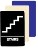 Stairwell Compliance Ada Braille Stairs Sign