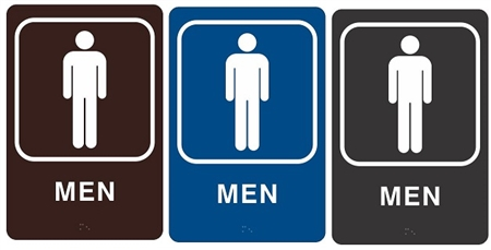 ADA MEN HANDICAP RESTROOM Sign - Handicap bathroom sign