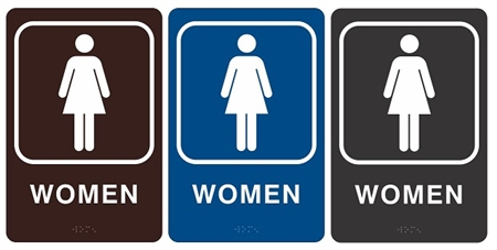 ADA WOMEN HANDICAP RESTROOM Sign - Handicap bathroom sign
