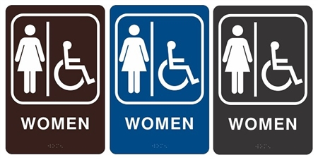 Handicap Bathroom Sign Kemistorbitalshowco - Ada compliant bathroom signs