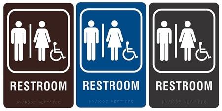 ADA Men and Women Braille Restroom Sign