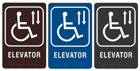 ada wheelchair accessible elevator sign