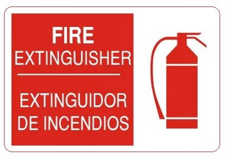 Spanish Bilingual Fire Extinguisher Sign