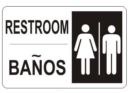 restroom signs.  Restroom And Restroom Signs