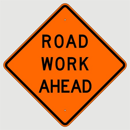 road work ahead w201 construction signs
