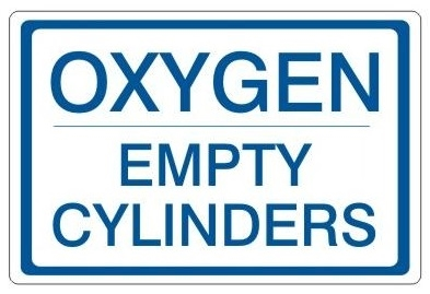 Oxygen Empty Cylinders Status Sign