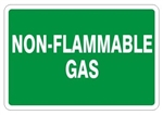 NON-FLAMMABLE GAS, Gas Cylinder Sign, 7 X 10 Pressure Sensitive Vinyl