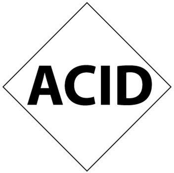 Nfpa Diamond Panel Acid Symbol