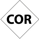 Pre-printed Symbol COR - Clear pressure sensitive vinyl Available in 1, 2, 3, 4, and 6 inch - 5 Identical Symbols per Pack.