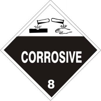 Dot Placard Corrosive Class 8