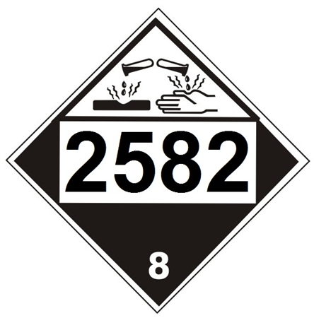 2582 Ferric Chloride Solution Dot Placard