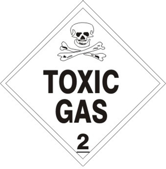 Toxic Gas Class 2 Placard
