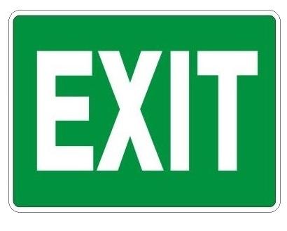 Green Quot Exit Quot Sign