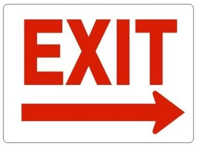Image Printable Exit Sign With Arrow Download