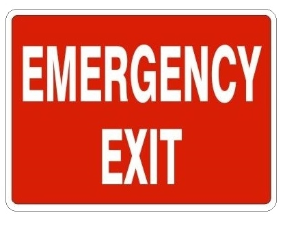 safety sign emergency exit