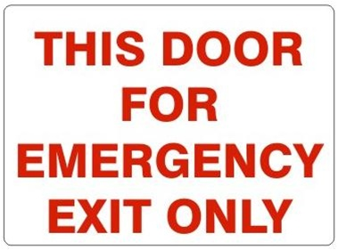 sc 1 st  safetysupplywarehouse.com & DOOR-Sign THIS DOOR FOR EMERGENCY EXIT ONLY