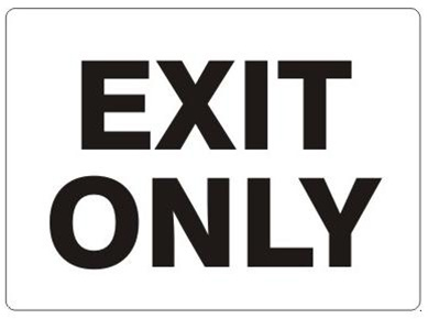 sc 1 st  safetysupplywarehouse.com & EXIT ONLY (Door) Sign