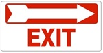 EXIT arrow right Sign - Available 6.5 X 14 Self Adhesive Vinyl, Plastic and Aluminum.