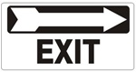 EXIT Directional arrow right Sign - Available 6.5 X 14 Self Adhesive Vinyl, Plastic and Aluminum.