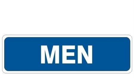 Door Sign Men Bathroom