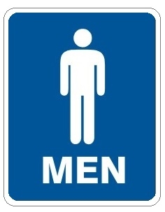 Men Restroom Sign Men With Graphic