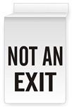 Drop Ceiling Mount NOT AN EXIT Sign 13 X 10 Double-Sided