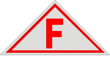 F Floor Construction Truss Sign