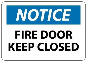 sc 1 st  safetysupplywarehouse.com & FIRE DOOR KEEP CLOSED - NOTICE Sign