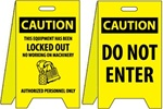 Caution Locked Out /Do Not Enter - Reversible Two Sided Flood Stands