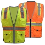 Class 2 Brilliant Hi Viz Safety Vest, Zipper Closure High Visibility Safety Vest - ANSI 107-2010, CLASS 2