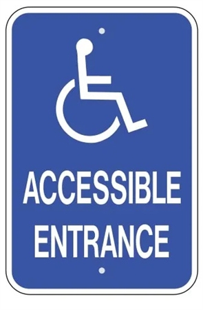 handicap accessible entrance sign parking sign