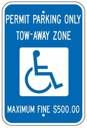Georgia State Specified Handicap Parking Sign