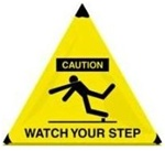 Caution Watch Your Step - Handy Cone™ Floor Sign