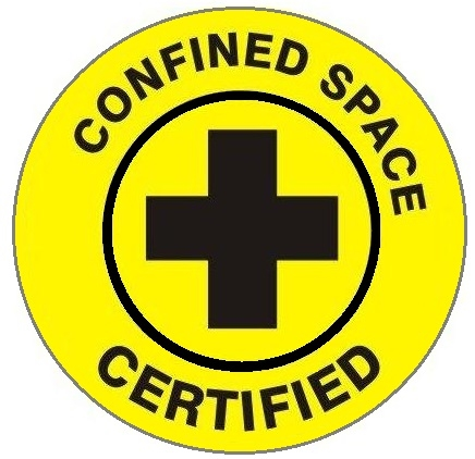 Confined Space Certified Hard Hat Labels