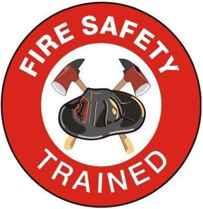 Hard  Stickers on Fire Safety Trained Hard Hat Decals Create A Professional Appearance