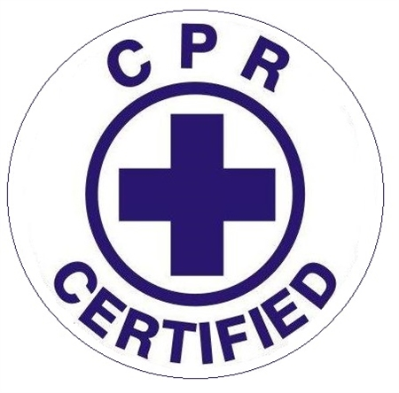 CPR CERTIFIED, Hard Hat Stickers