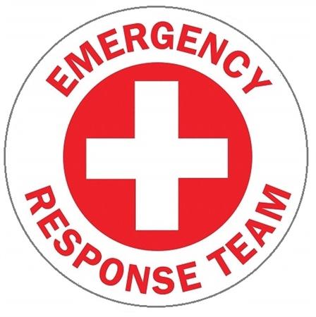 Hard Hat Stickers Emergency Response Team