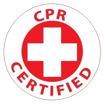 Hard Hat Sticker - CPR CERTIFIED