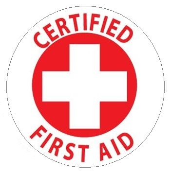 hard hat labels certified first aid