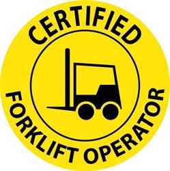 Certified Forklift Operator Hard Hat Labels