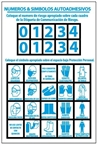 Spanish Personal Protection Numbers & Symbols Sold 10 sheets per Pack, Use with labels HM36 & HM42