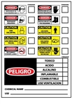 Spanish PPE Chemical ID Hazard Labels - 10 X 14 Pressure Sensitive or Plastic Individual Signs