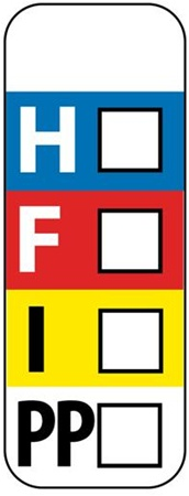 Hmis Color Bar Labels On A Roll