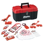 Master Lock 1457E410KA Personal Electrical Lockout Kit - Convenient all-in-one kit contains multiple lockout devices for electrical Lockout/Tagout procedures